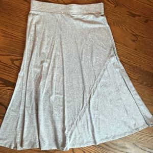 Stretchy, cool, grey flowing skirt